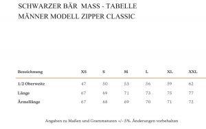 Zipper Classic Männer Schwarz